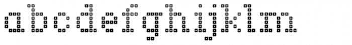 Marquer Square Squaredot Font LOWERCASE