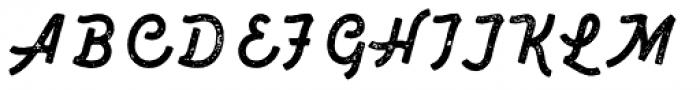 Marshfield Typeface Rough Font UPPERCASE