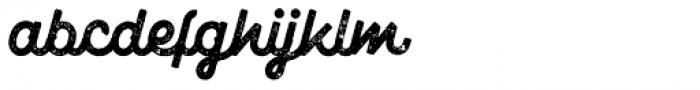 Marshfield Typeface Rough Font LOWERCASE