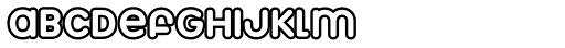Marshmallow Outline Font UPPERCASE