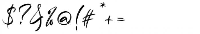 Marthiline Regular Font OTHER CHARS