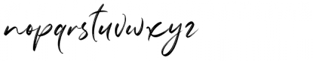 Marthiline Regular Font LOWERCASE