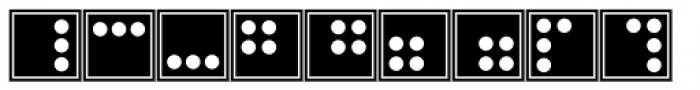 Martian Tiles Dots AAA Font UPPERCASE