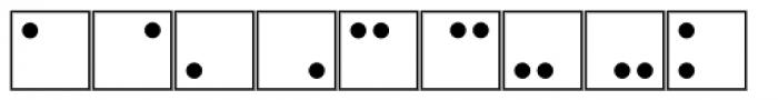 Martian Tiles Dots AAA Font LOWERCASE