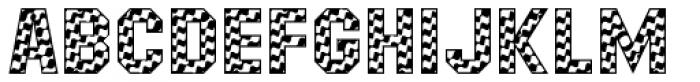 Masheen Flag Font UPPERCASE