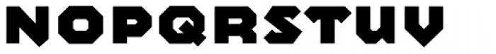 Mashine ExtraBold Font LOWERCASE
