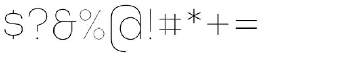 Masiva Thin Font OTHER CHARS