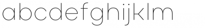 Masiva Thin Font LOWERCASE