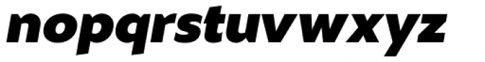 Masny Heavy Italic Font LOWERCASE