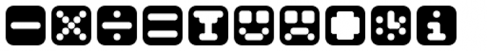 Mastertext Symbols One Font UPPERCASE