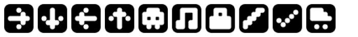 Mastertext Symbols One Font LOWERCASE
