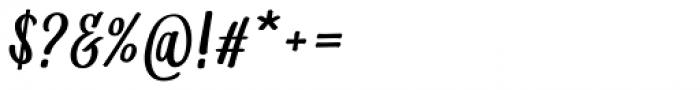 Matahati Slant Font OTHER CHARS
