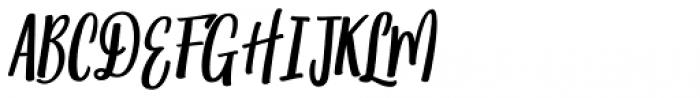 Matahati Slant Font UPPERCASE