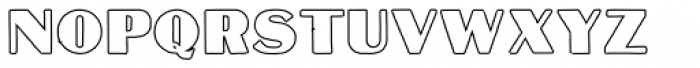 Mateus Bold Outline Font UPPERCASE