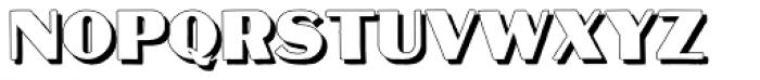 Mateus Bold Shadow Font UPPERCASE