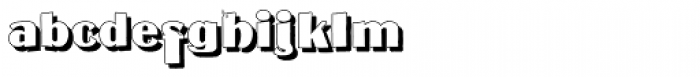 Mateus Bold Shadow Font LOWERCASE