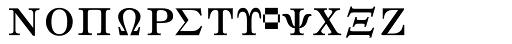 Math & Technical 10 Font UPPERCASE