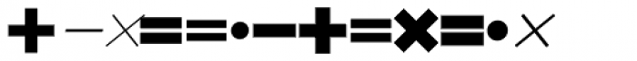 Mathe Symbols SH Regular Font UPPERCASE