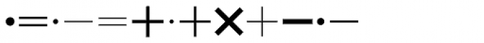 Mathe Symbols SH Regular Font LOWERCASE