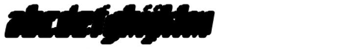 Matica Supernormal Oblique Drop Font LOWERCASE
