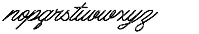 Mattcool Rough Font LOWERCASE