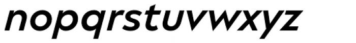 Matteo Semibold Italic Font LOWERCASE
