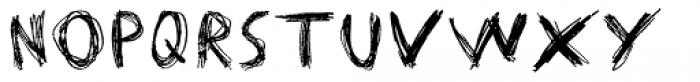 Matthew's Scribblings Font UPPERCASE