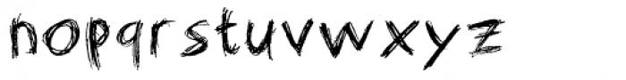 Matthew's Scribblings Font LOWERCASE