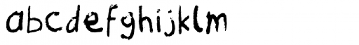 Matthew's Text Font LOWERCASE