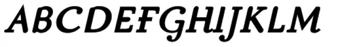 Matula Black Italic Font UPPERCASE