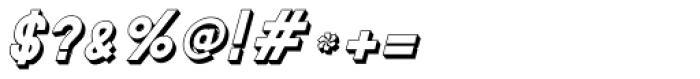 MauBo 3-D Italic Font OTHER CHARS