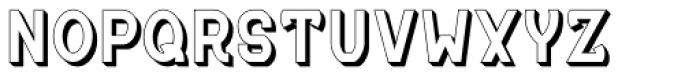 MauBo 3-D Font UPPERCASE