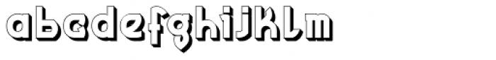 MauBo 3-D Font LOWERCASE