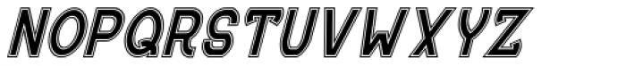 MauBo College Italic Font UPPERCASE