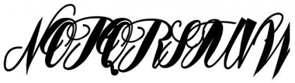 Mavblis Italic Font UPPERCASE