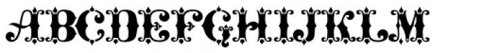 Maverick's Lucky Spades Font LOWERCASE