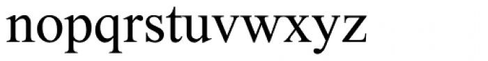 Maxim MF Font LOWERCASE