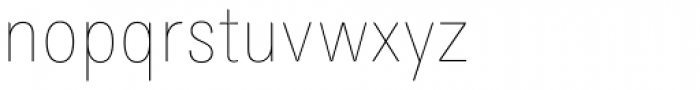 Maxima Now TB Pro Cond UltraLight Font LOWERCASE