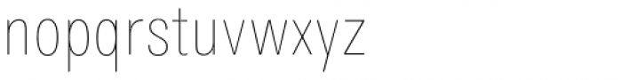 Maxima Now TB Pro ExtraCond UltraLight Font LOWERCASE