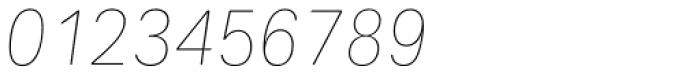 Maxima Now TB Pro UltraLight Italic Font OTHER CHARS