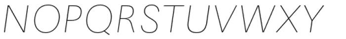 Maxima Now TB Pro UltraLight Italic Font UPPERCASE