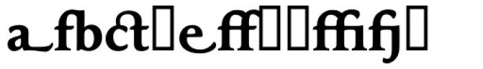 Maxime Bold Alternate Font LOWERCASE