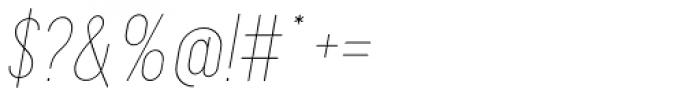 Maxwell Small Caps UltraLight Italic Font OTHER CHARS