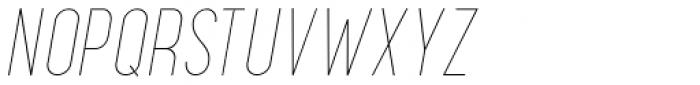 Maxwell Small Caps UltraLight Italic Font UPPERCASE