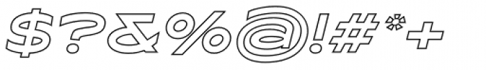 Maxy Maximum Outline Italic Font OTHER CHARS