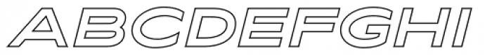 Maxy Maximum Outline Italic Font UPPERCASE