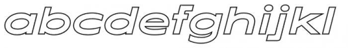 Maxy Maximum Outline Italic Font LOWERCASE