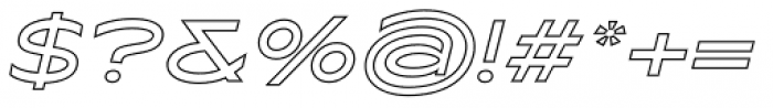 Maxy Medium Outline Italic Font OTHER CHARS