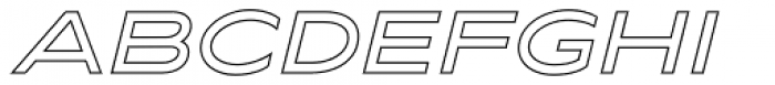 Maxy Medium Outline Italic Font UPPERCASE