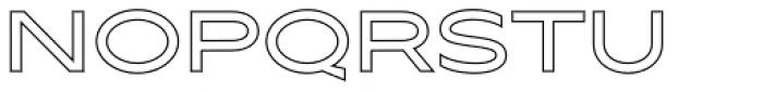 Maxy Medium Outline Font UPPERCASE